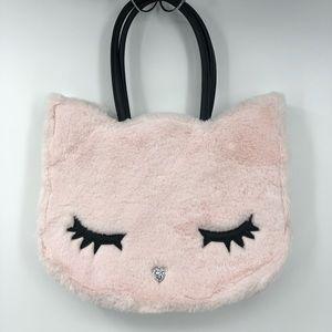Betsy Johnson Pink Faux Fur Kitten Handbag